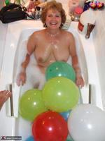 Busty Bliss. Big Boob Balloons & Bath Free Pic 16