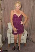 MollyMILF. Purple Dress Free Pic 1