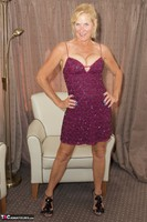 MollyMILF. Purple Dress Free Pic 6