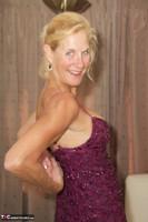 Molly MILF. Purple Dress Free Pic 7