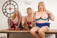 Molly MILF. Three Girls On The Table Free Pic 17