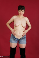 Hot Milf. Hotpants & Transparent Blouse Free Pic 12