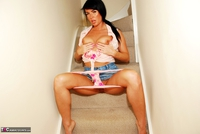 Raunchy Raven. Stairway To Heaven, Or At Least Ravens Shaved Pink Wet Pussy Free Pic 11