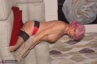 . Red Boots & Topless Free Pic 9