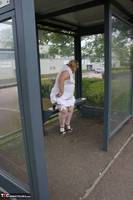 Lexie Cummings. Lexie & Her Tail In The Bus Shelter Free Pic 1
