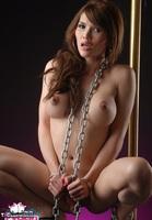Eva Lin TS. Chained up tranny slut Free Pic 14