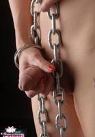 Eva Lin TS. Chained up tranny slut Free Pic 18