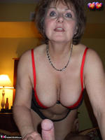 Busty Bliss. Red & Black Laced Bra & Hot Cock Sucking Free Pic 13