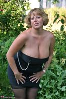 Curvy Claire. Little Black Dress Garden Strip Pt1 Free Pic 6