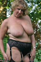 Curvy Claire. Little Black Dress Garden Strip Pt1 Free Pic 15