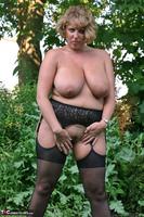 Curvy Claire. Little Black Dress Garden Strip Pt1 Free Pic 17