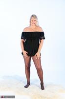 Sweet Susi. Denim Shorts & Nylons Free Pic 1
