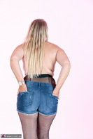 Sweet Susi. Denim Shorts & Nylons Free Pic 11