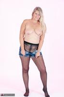 Sweet Susi. Denim Shorts & Nylons Free Pic 12