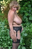 Curvy Claire. Little Black Dress Garden Strip Pt2 Free Pic 2