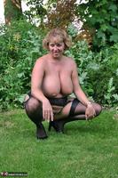 Curvy Claire. Little Black Dress Garden Strip Pt2 Free Pic 6
