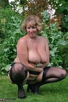 Curvy Claire. Little Black Dress Garden Strip Pt2 Free Pic 8