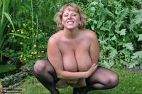 Curvy Claire. Little Black Dress Garden Strip Pt2 Free Pic 9