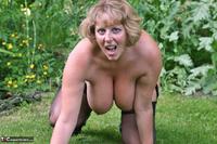 Curvy Claire. Little Black Dress Garden Strip Pt2 Free Pic 10