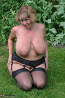 Curvy Claire. Little Black Dress Garden Strip Pt2 Free Pic 11