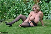 Curvy Claire. Little Black Dress Garden Strip Pt2 Free Pic 13