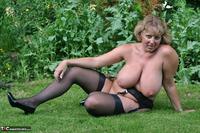 Curvy Claire. Little Black Dress Garden Strip Pt2 Free Pic 14