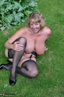 Curvy Claire. Little Black Dress Garden Strip Pt2 Free Pic 15