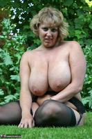 Curvy Claire. Little Black Dress Garden Strip Pt2 Free Pic 18