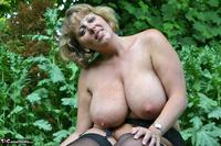 Curvy Claire. Little Black Dress Garden Strip Pt2 Free Pic 20