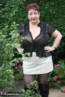 Kinky Carol. Black Boots & White Mini Pt1 Free Pic 1