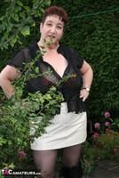 Kinky Carol. Black Boots & White Mini Pt1 Free Pic 3
