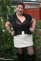 Kinky Carol. Black Boots & White Mini Pt1 Free Pic 4