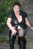 Kinky Carol. Black Boots & White Mini Pt1 Free Pic 7