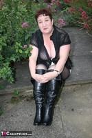 Kinky Carol. Black Boots & White Mini Pt1 Free Pic 8