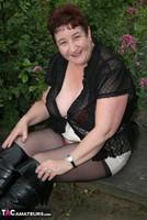 Kinky Carol. Black Boots & White Mini Pt1 Free Pic 9