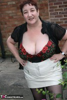 Kinky Carol. Black Boots & White Mini Pt1 Free Pic 18