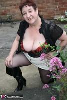 Kinky Carol. Black Boots & White Mini Pt1 Free Pic 19