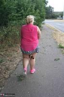 Lexie Cummings. Pink Shirt Flash Pt1 Free Pic 1