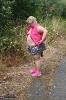 Lexie Cummings. Pink Shirt Flash Pt1 Free Pic 8