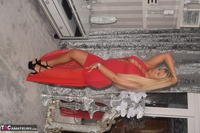 Phillipas Ladies. Dolly In Her Sexy Red Dress Free Pic 1