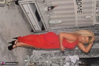 Phillipas Ladies. Dolly In Her Sexy Red Dress Free Pic 6