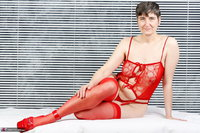 Hot Milf. Red Lingerie Free Pic 2