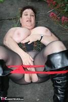 Kinky Carol. Black Boots & White Mini Pt2 Free Pic 19