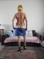 Kat Lara. Blue Skirt Free Pic 12
