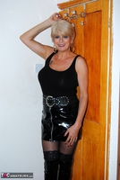 . Black PVC THigh Boots Free Pic 1
