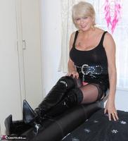 . Black PVC THigh Boots Free Pic 3