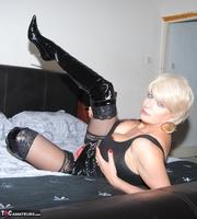 . Black PVC THigh Boots Free Pic 12