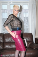 . Pink Leather Skirt Free Pic 4
