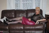 . Pink Leather Skirt Free Pic 5