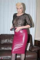 . Pink Leather Skirt Free Pic 8